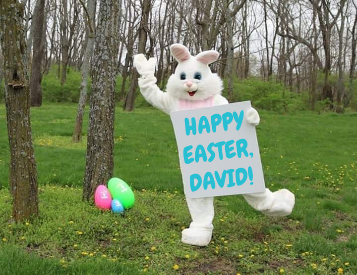 DIY Personalized Easter Bunny Photo with Child's Name
