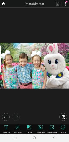 How to Photoshop Your Kids with the Easter Bunny Using Free Mobile App