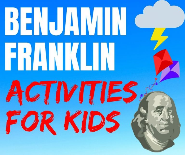 Benjamin Franklin Scientist Free Printable Worksheets, Science Experiments and Kindergarten - 5th Grade Elementary School Lessons