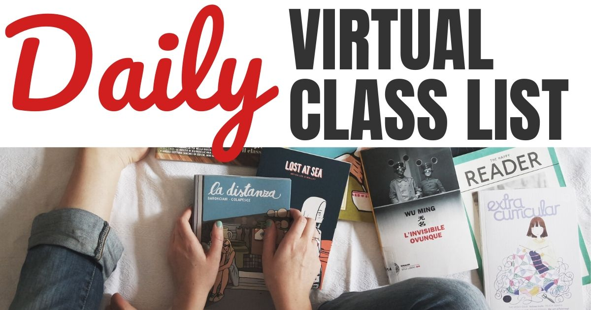 Daily Free Virtual Class List Online for Facebook, Instagram & Zoom Meetings