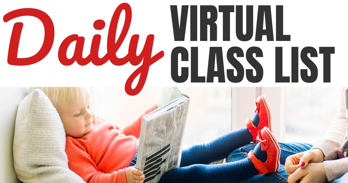 Daily Free Virtual Class List Online for Kids & Adults on Facebook, Instagram & Zoom Meetings