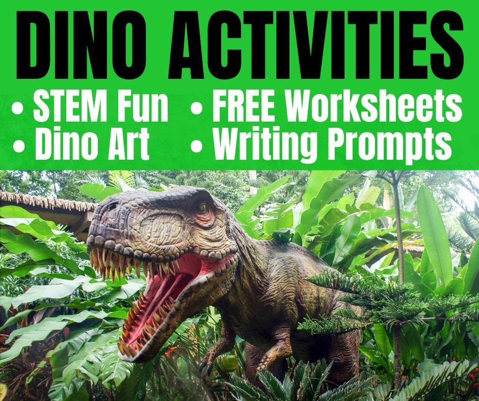 Dinosaur Activities: STEM, Free Worksheets & ELA Fun
