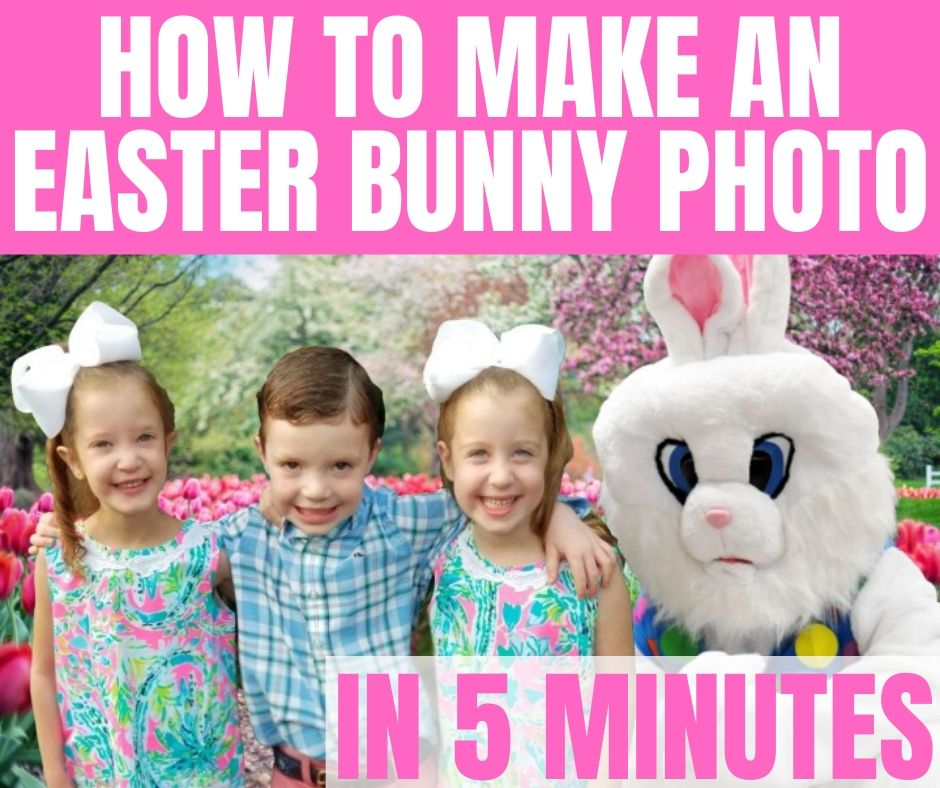 How to Make an Easter Bunny Photo with Your Kids