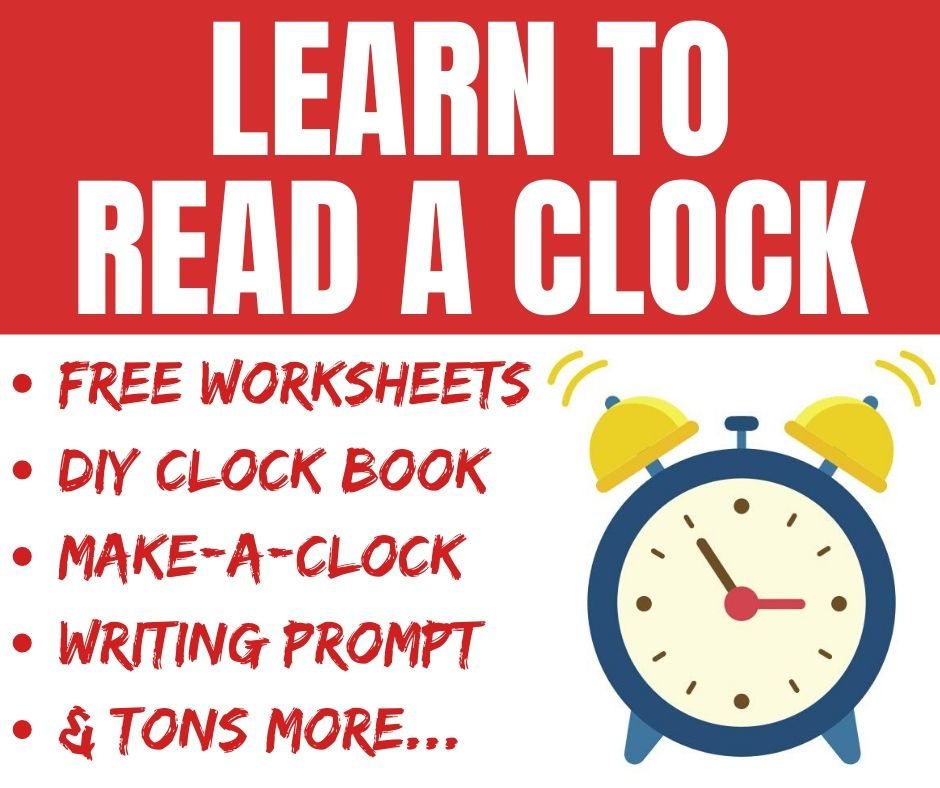 How to Tell Time on a Clock Worksheets & Craft Projects