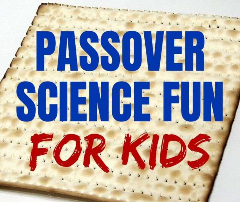 Passover Kids Science Experiments & Free Printouts