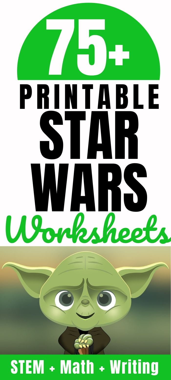Star Wars STEM activities and free worksheets for kids