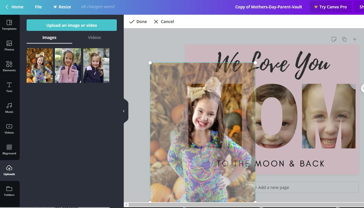 How to Make Photo Letters on Canva