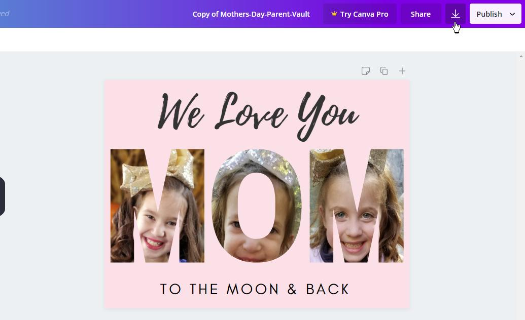 How to Make Mother's Day Custom Photo Card on Canva