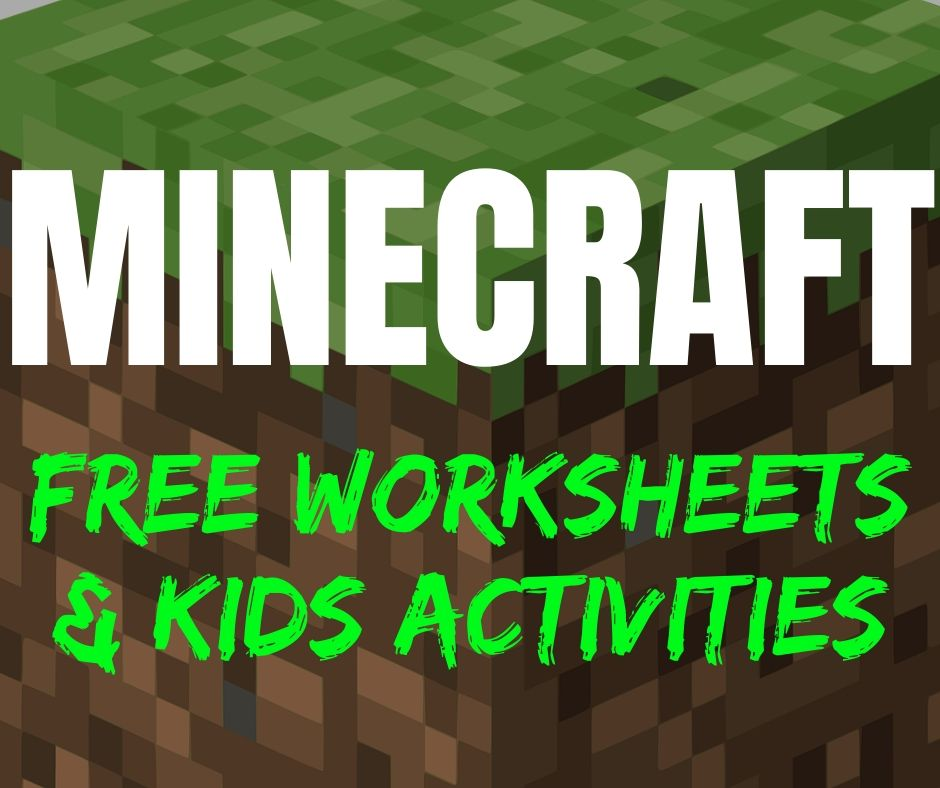 Free Minecraft Worksheets & Kids Activities