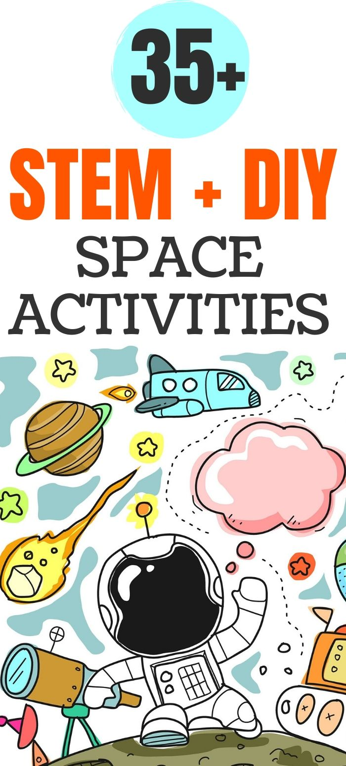 STEM & DIY Outer Space Projects for Kids (Free Worksheets & Printables)