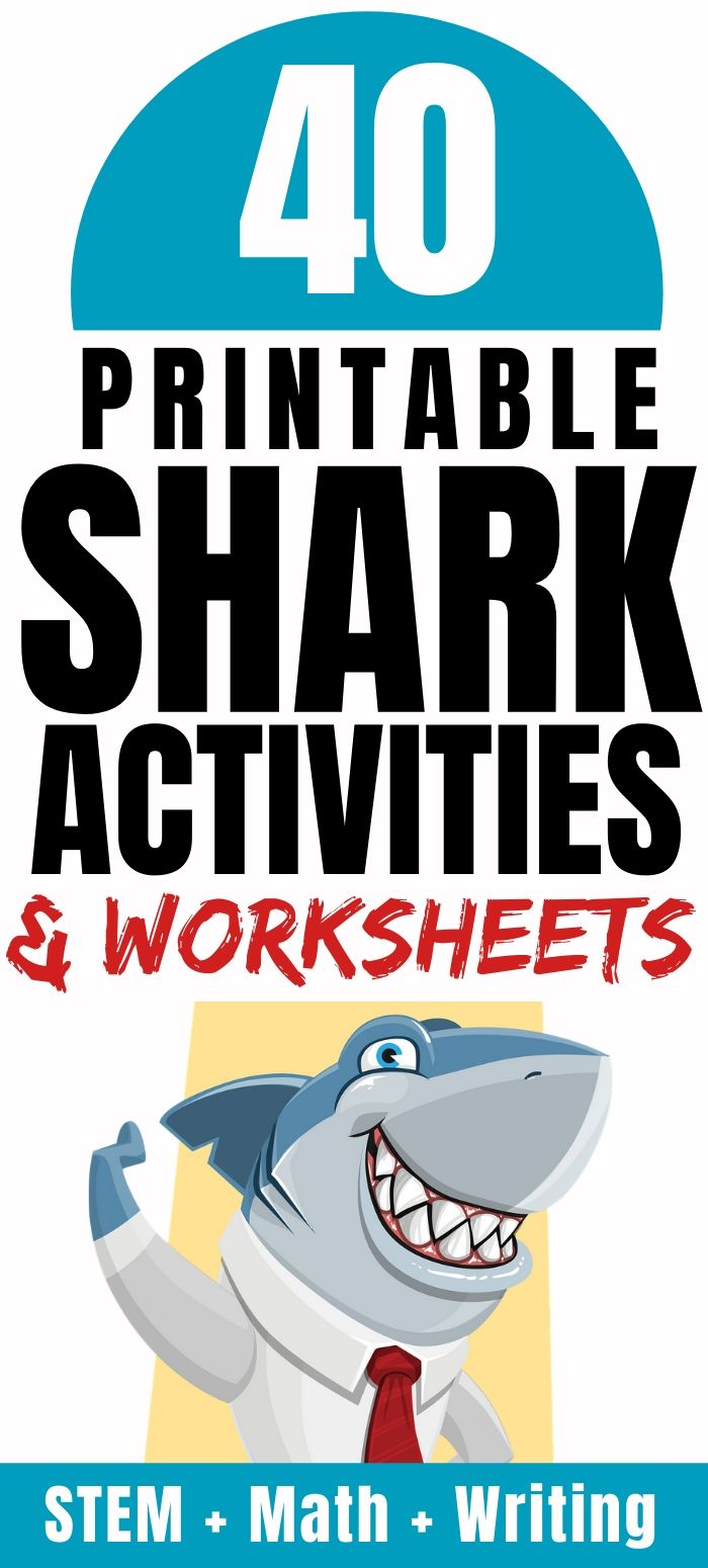 Printable Shark Worksheets Free for STEM, Math, Reading & Writing