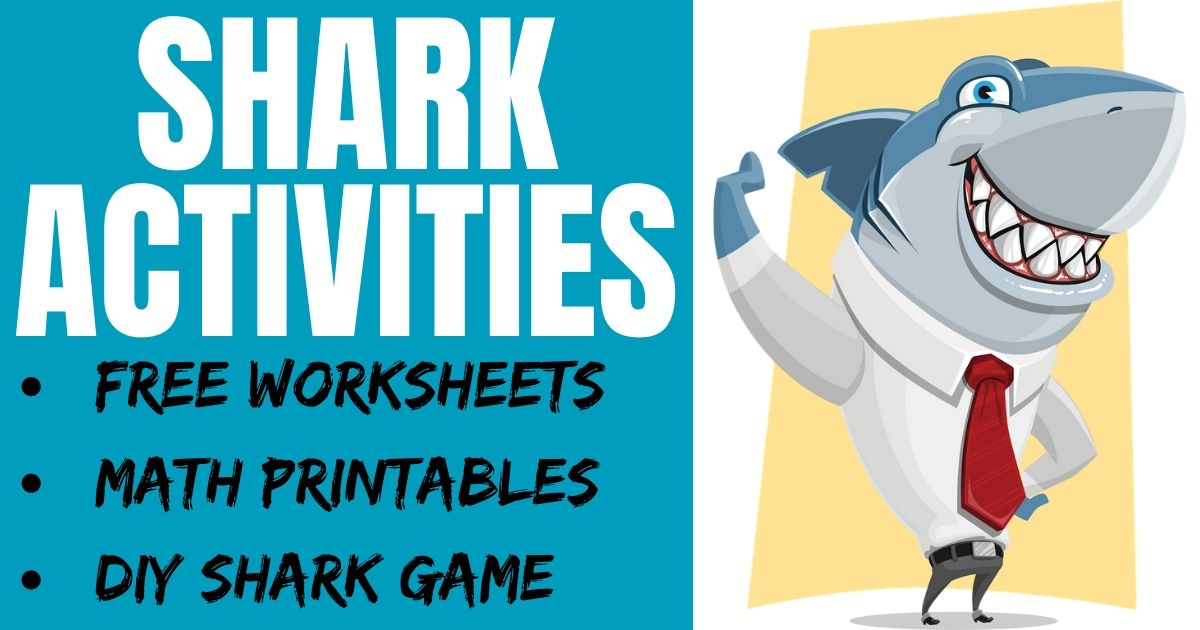 Shark Activities for Kids & Free Worksheets