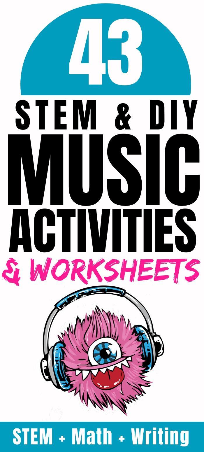 STEM & DIY Music Activities & Worksheets (Free & Printable) for Kids
