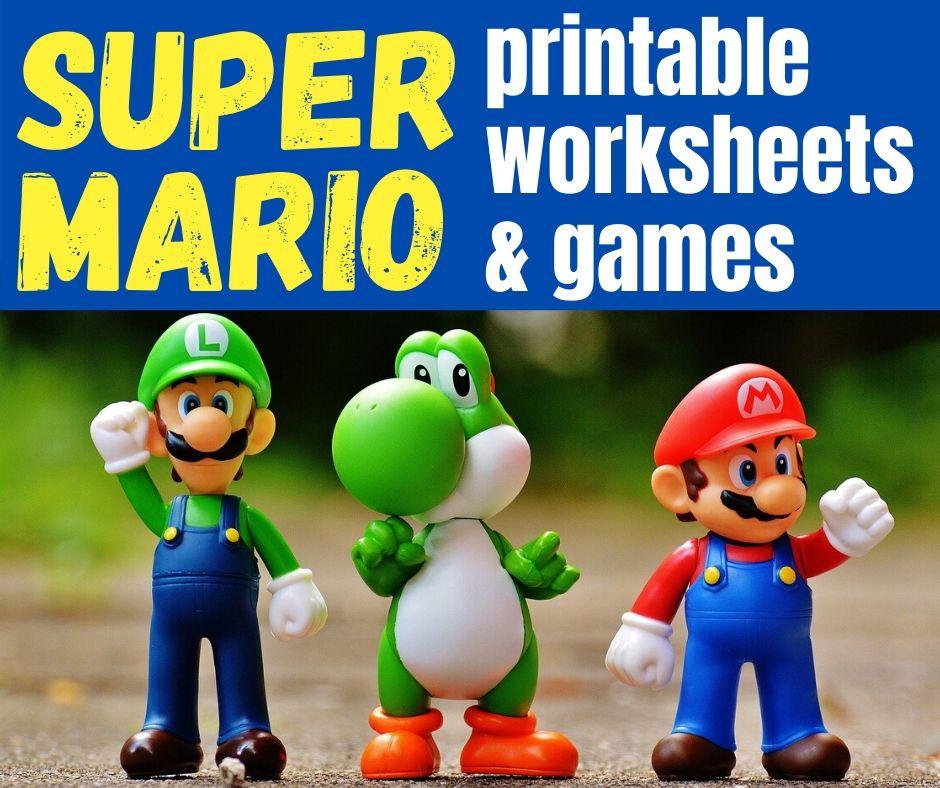Nintendo Super Mario Printable Worksheets Free