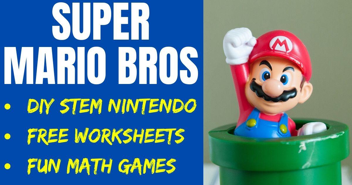 Super Mario STEM Experiment Free Worksheets