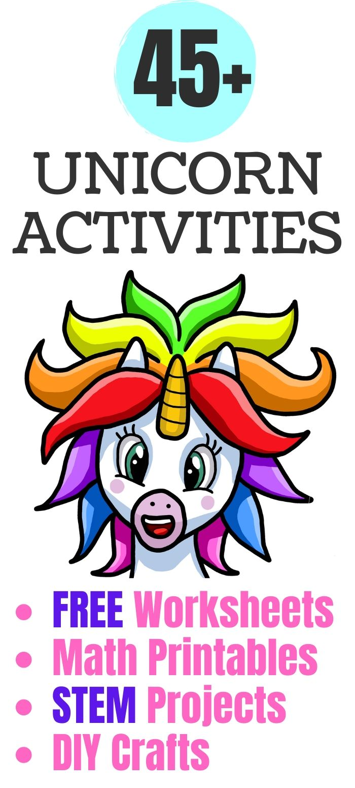 Unicorn Activities for Kids: Crafts, Free Printables, Worksheets, STEM & DIY Projects