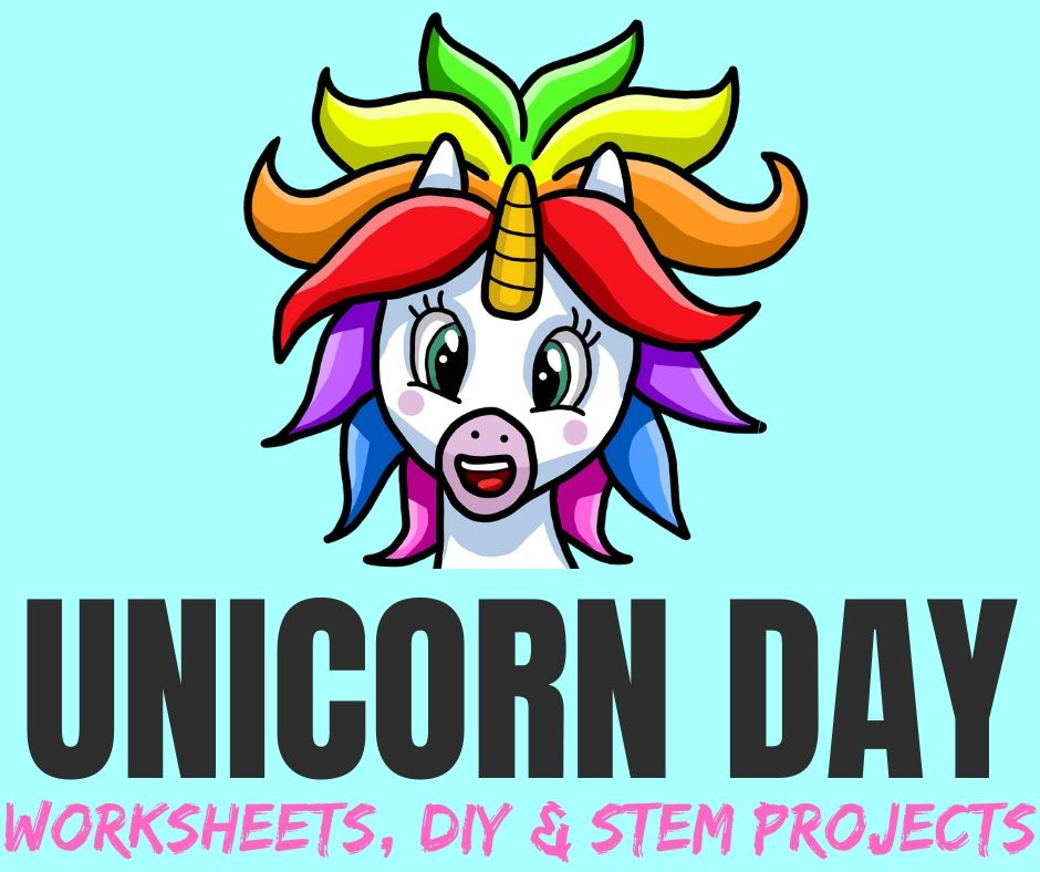 Unicorn Worksheets, DIY Crafts & STEM Projects for Unicorn Day
