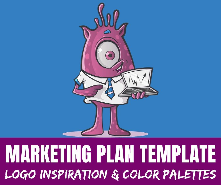 A marketing plan template that is free and printable. Plus, tons of logo inspiration & brand color palettes to work on your branding. Basically everything you need for marketing and branding your company.