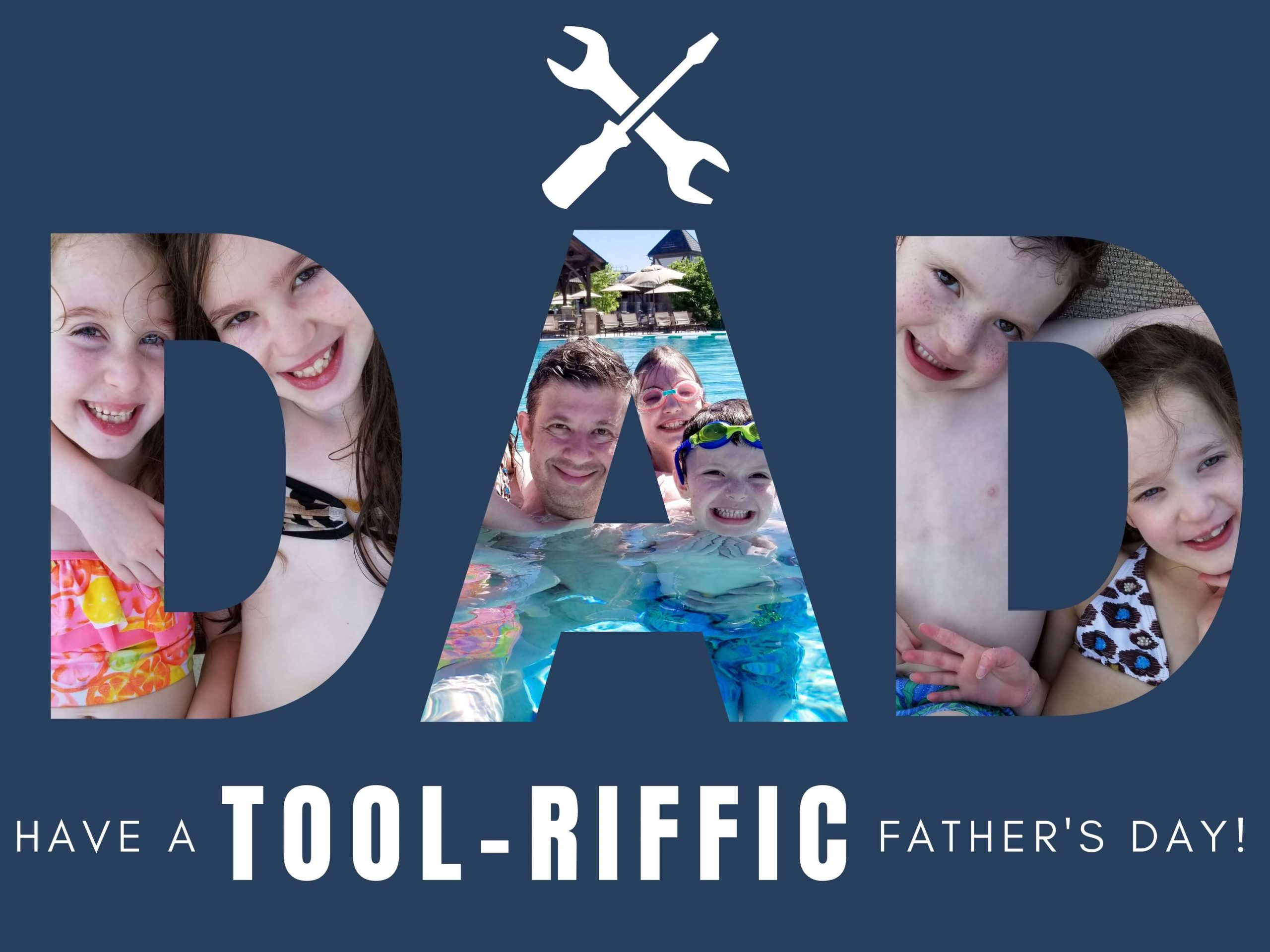"Free Father's Day eCard that says ""Have a TOOL-riffic Father's Day!"""