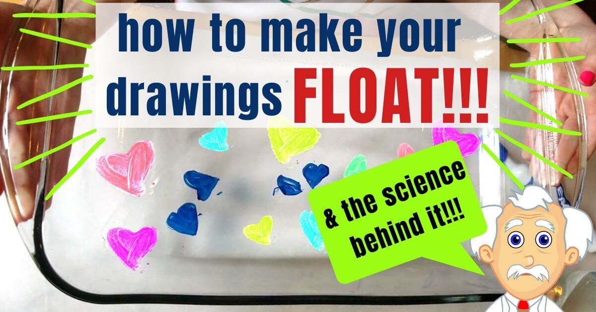Make your drawing float with this dry erase plate trick! All you need is a glass dish, expo dry erase markers and water!