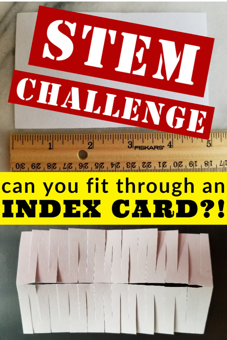 Can you fit in an index card?