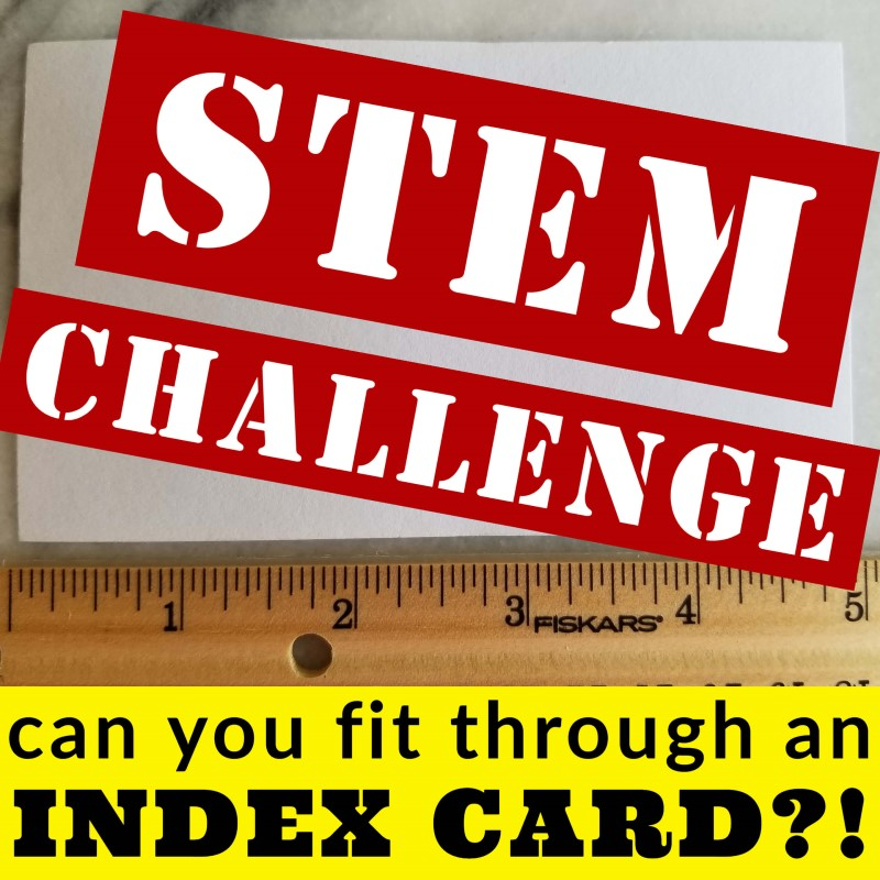 Can you step through an index card?