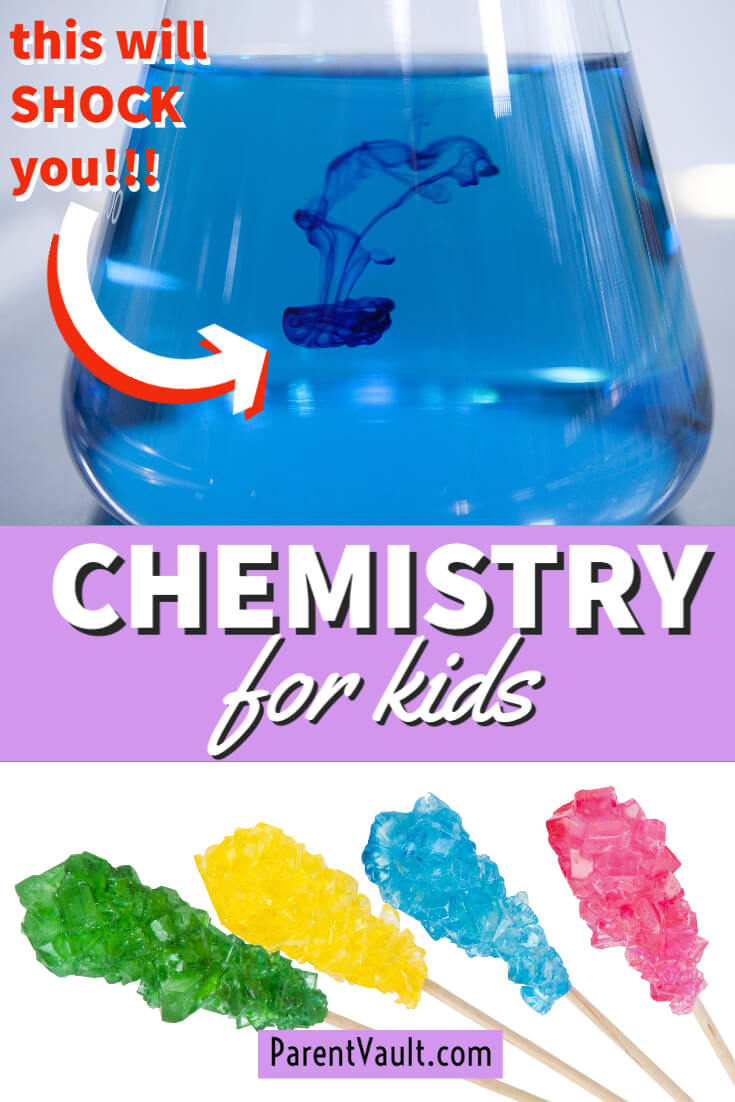 Chemistry for kids lesson plan that includes STEM games, like a DIY board game. Plus, tons of science experiments, free worksheets and art, reading, writing and math activities.