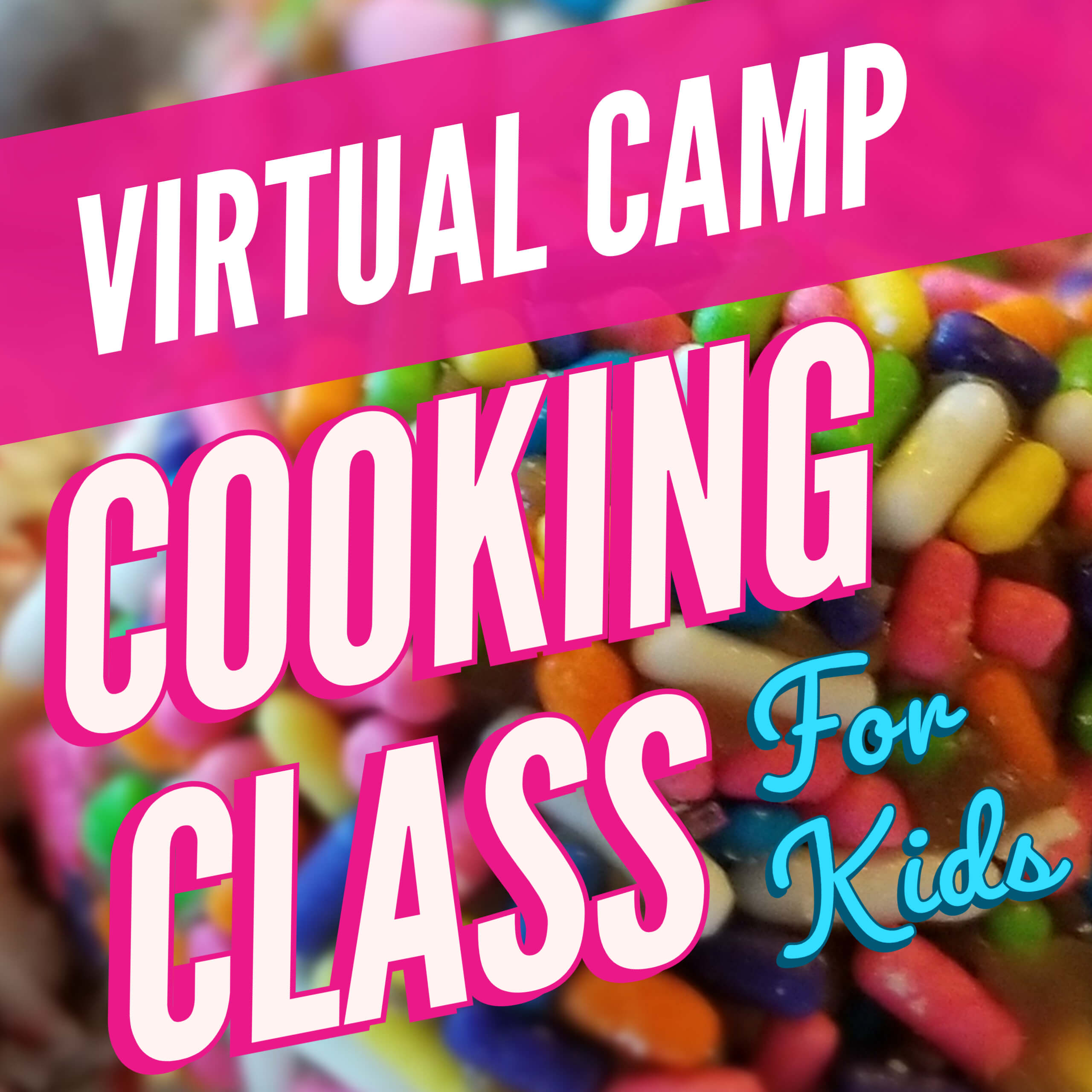 Cooking classes for kids schedule, along with all of the ingredients needed for the week long, virtual cooking class for kids!