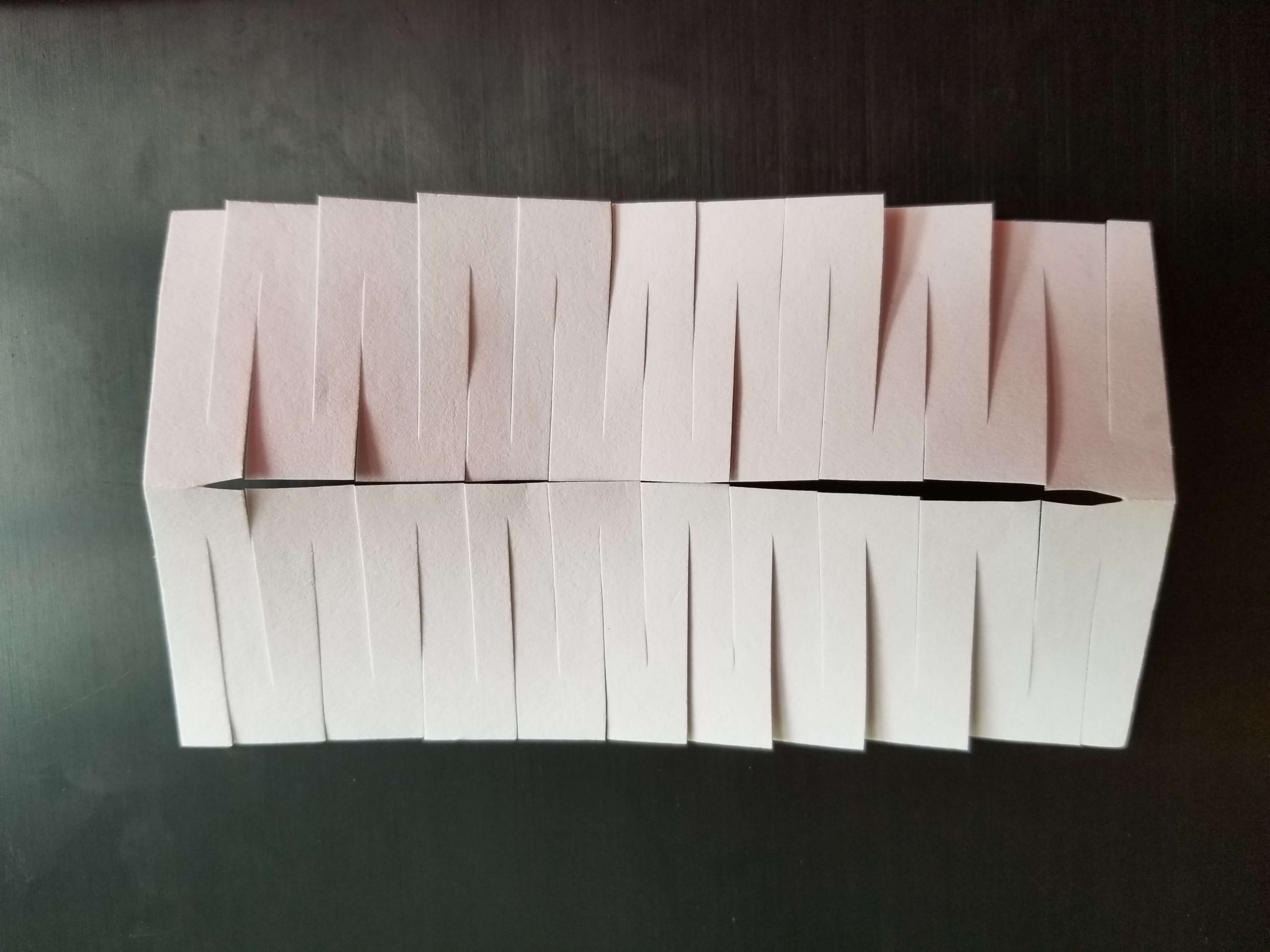 How to cut the middle of the index card to step through the card