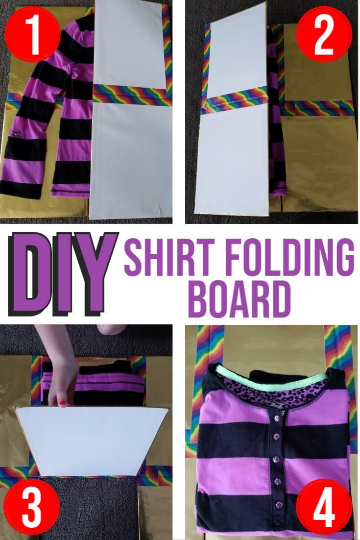 DIY Shirt Folding Board for Kids
