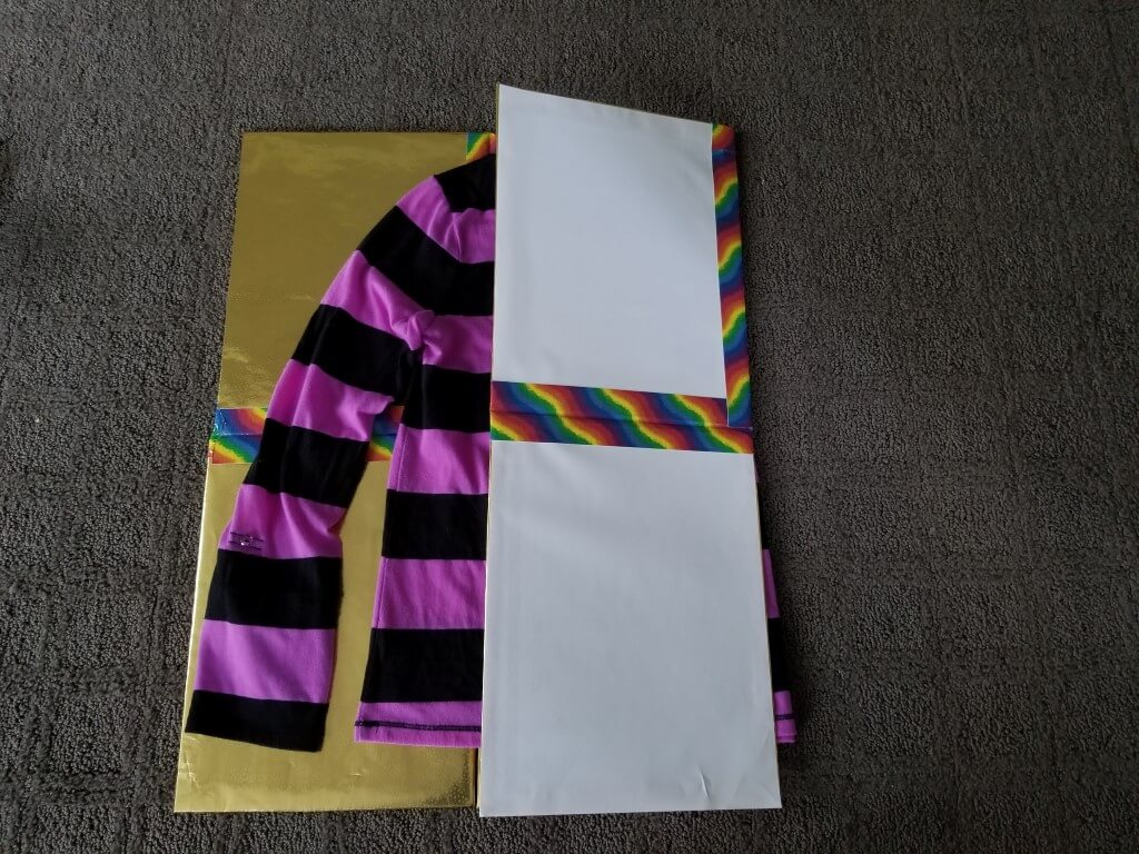DIY shirt folding board - Step 12