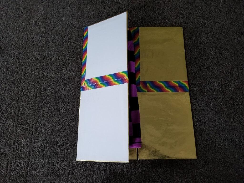 DIY shirt folding board - Step 13