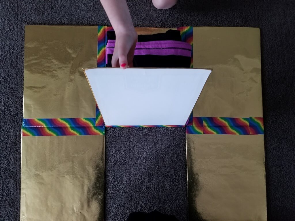 DIY shirt folding board - Step 14