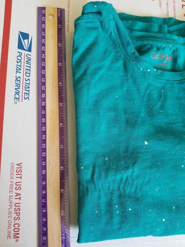 DIY shirt folding board - Step 2