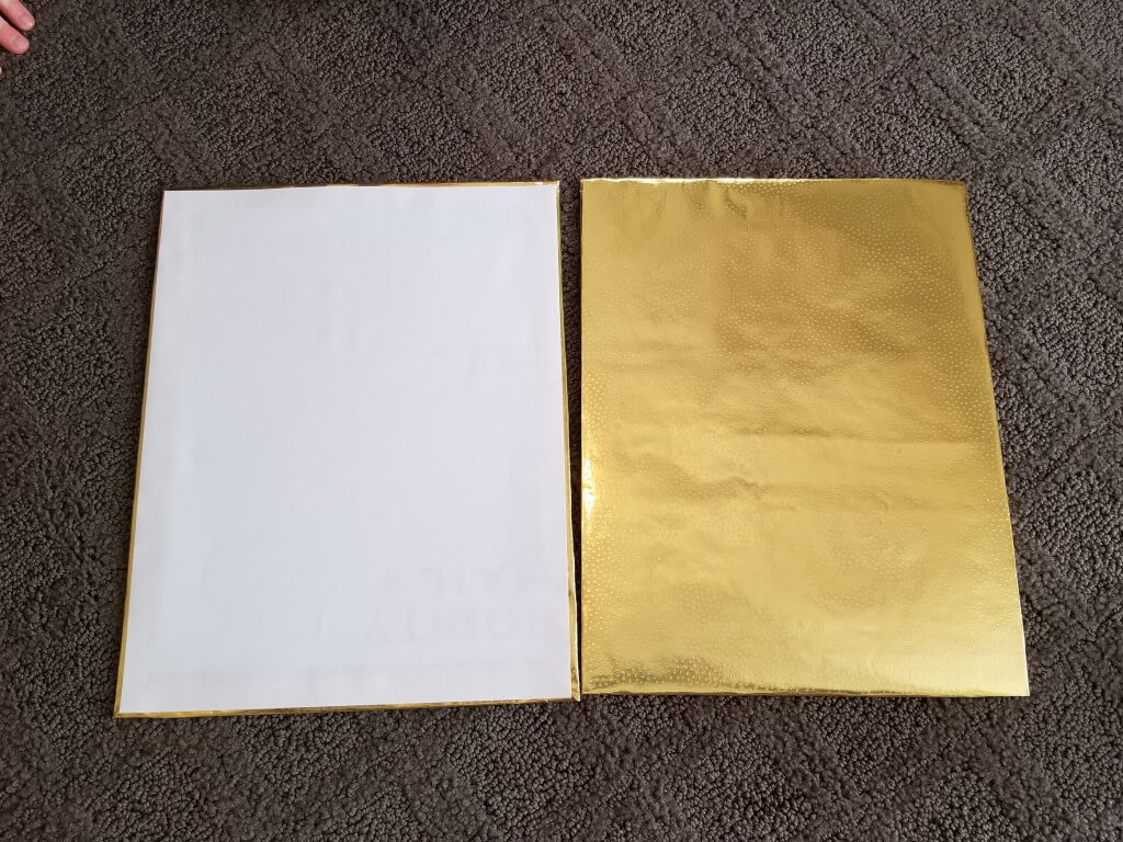 DIY shirt folding board - Step 5
