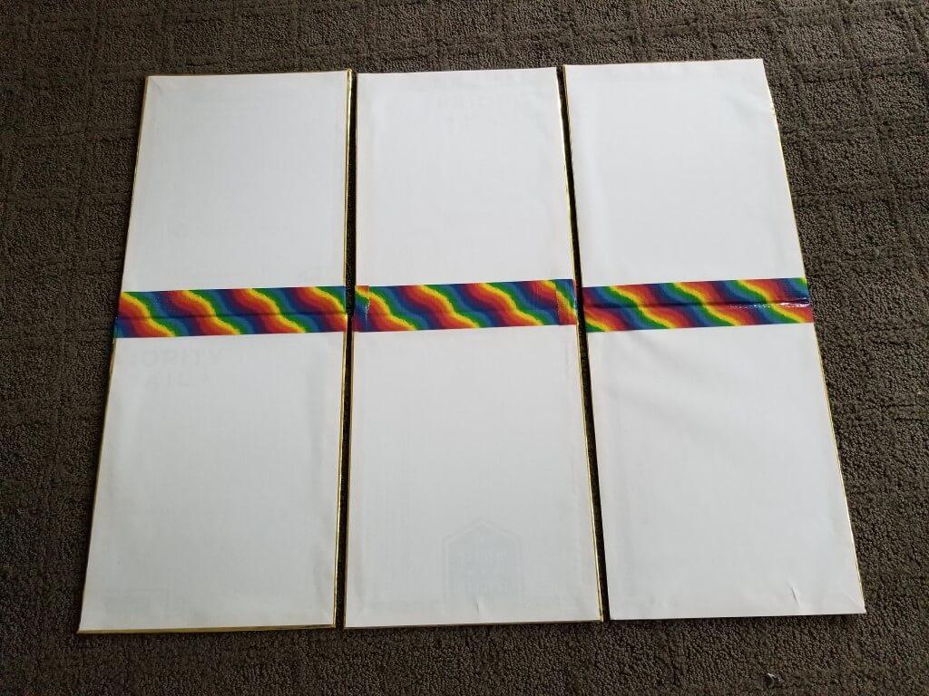 DIY shirt folding board - Step 8