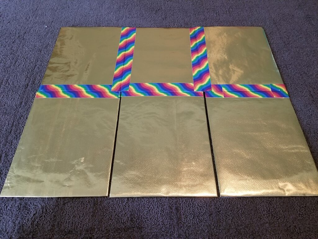 DIY shirt folding board - Step 9