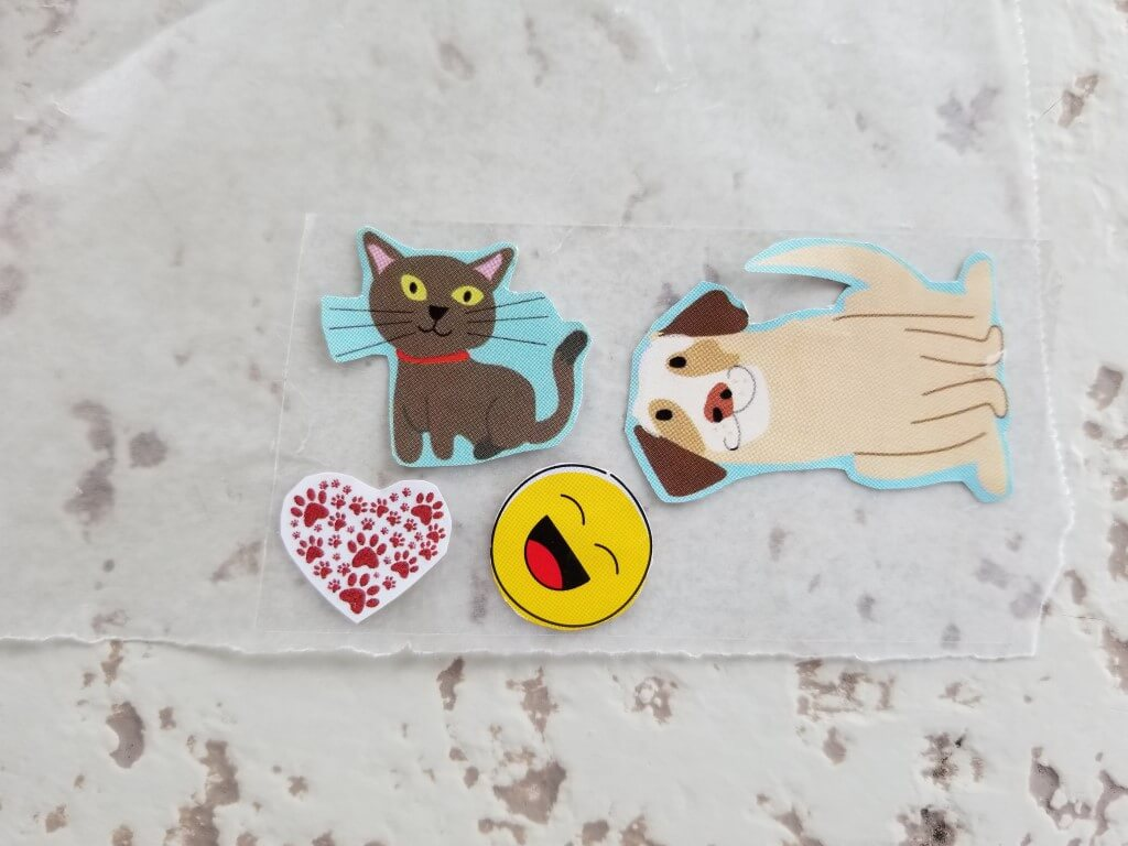 DIY sticker decals with parchment paper and tape