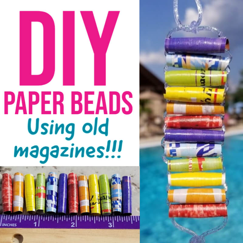 How to Make DIY Paper Beads Shiny