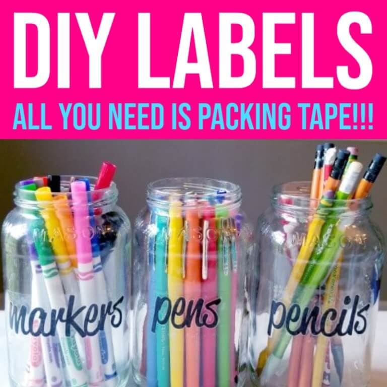 How to Make Labels with Clear Packing Tape