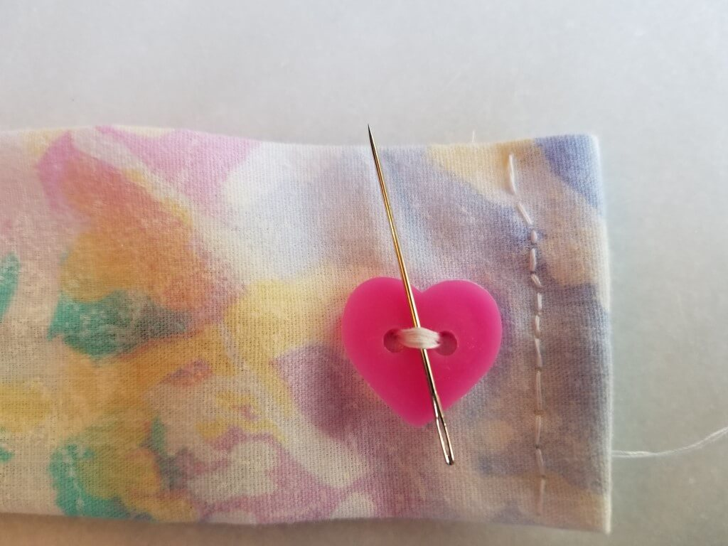 How to Sew on a Button - Step 5