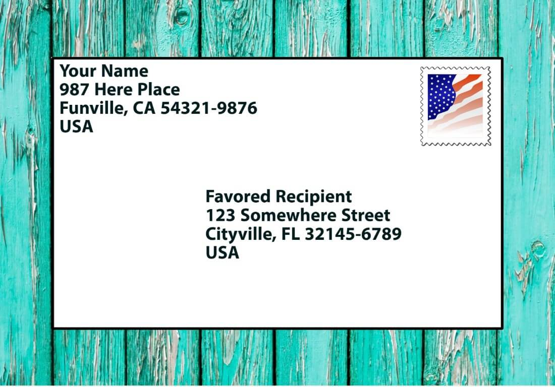 How to Write a Letter Address