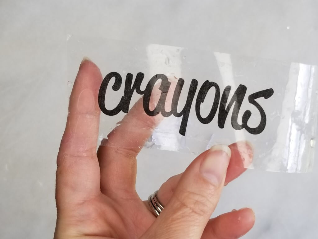 How to make clear labels with packing tape