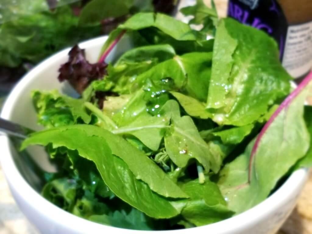 Olive Garden Chicken Alfredo Recipe with Side Salad