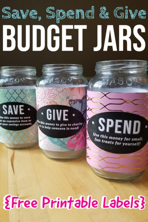 Save Send & Give Jars - Free Printable Labels (Medium)