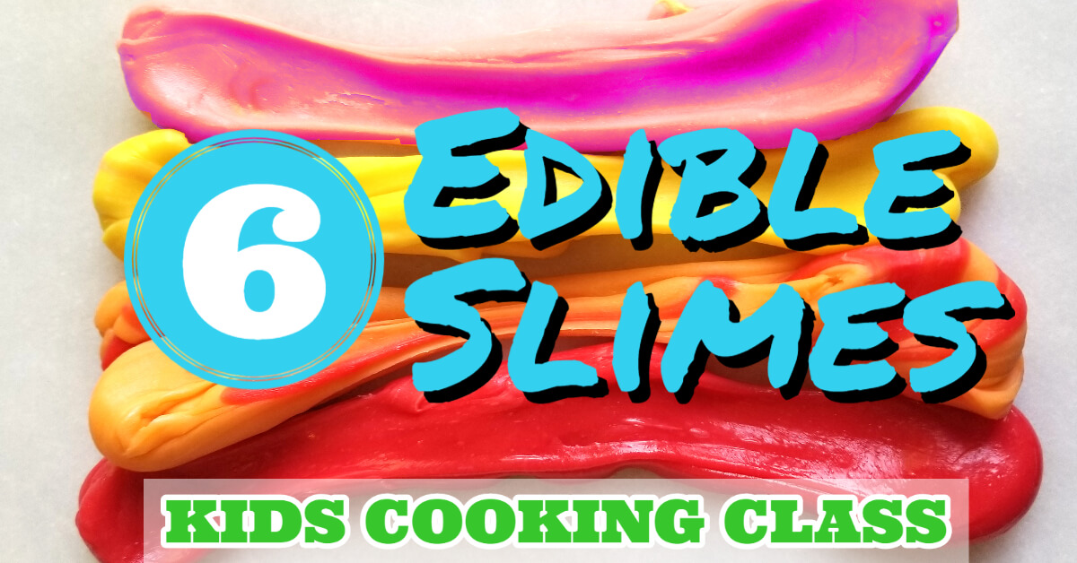 how to make edible slime with 6 different recipes like Starbursts, marshmallow & peanut butter and Jello