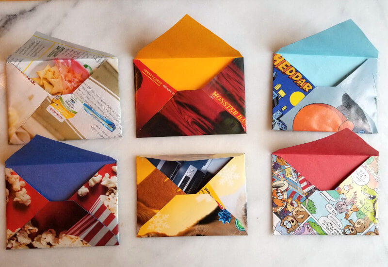 how to make envelopes out of magazines