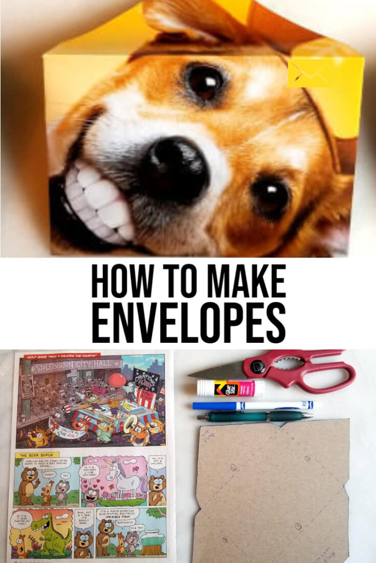 how to make envelopes out of paper and magazines