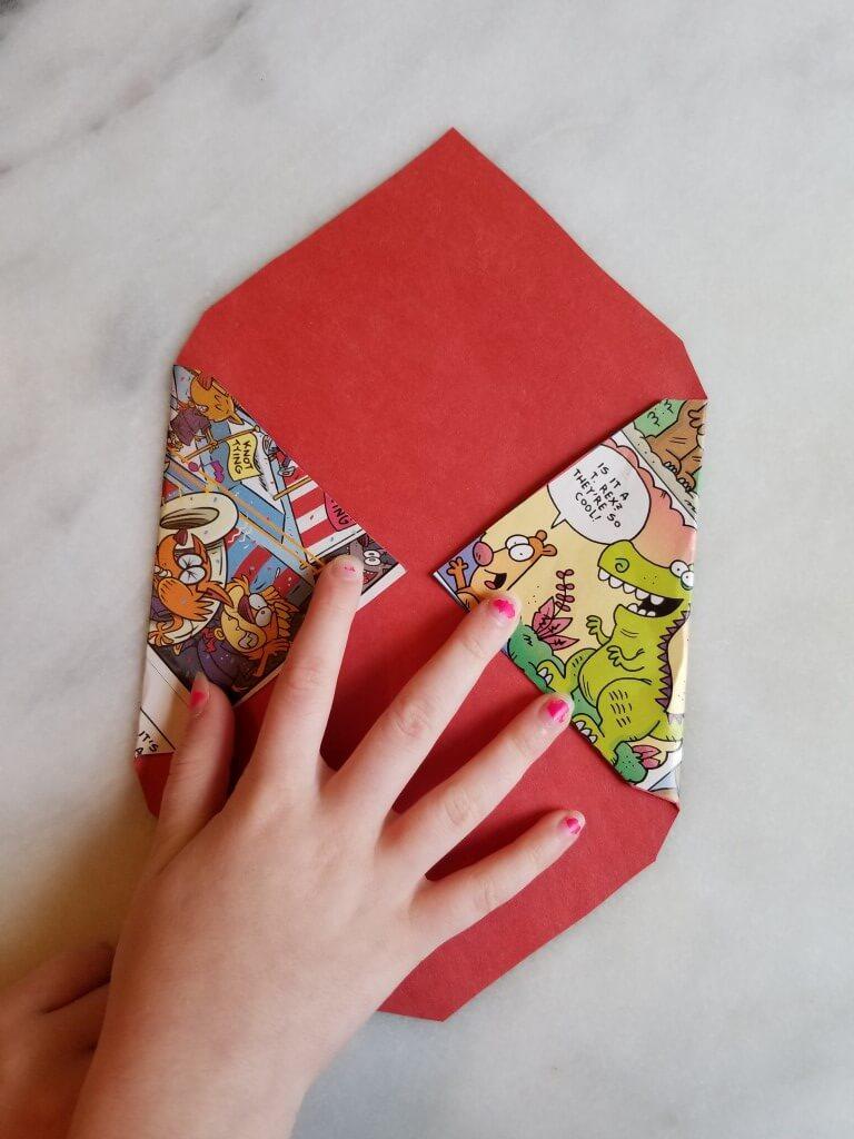 how to make envelopes: step 2