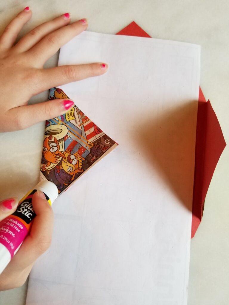 how to make envelopes: step 4